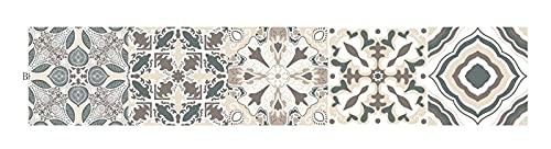 Byrhgood Home-Decor Portugués Estilo Patrón Vintage Pegatina de azulejo Cuarto de baño Cocina Etiqueta de Pared Etiqueta Impermeable Calcomanías DIY Adhesivo Wallpaper (Color : B, Size : 30x150cm)
