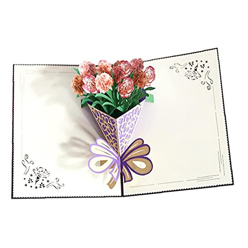 NaiCasy Mothers Day Greeting Card 3D Pop Up Flower Bouquet Gifts Card Appreciation Card for MotherS Day Anniversary