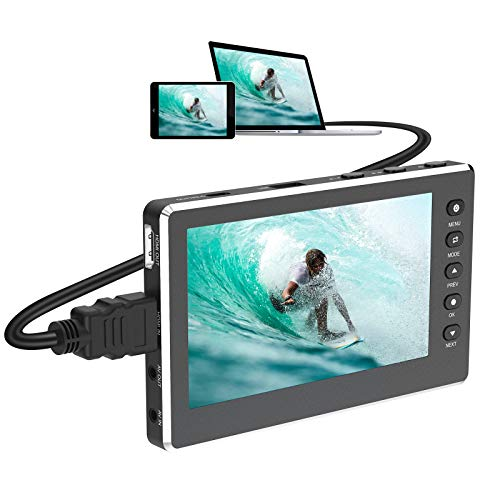 """DIGITNOW HD Video Capture Box 1080P 60FPS USB 2.0 Video to Digital Converter with 5"""" OLED Screen, AV&HDMI Video Recorder Capture from VCR, DVD, VHS Tapes, Hi8, Camcorders, Gaming Systems"""