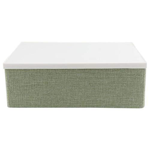 YFQHDD 33 x 23 x 11 cm, caja de almacenamiento plegable de poliéster con tapa, caja de almacenamiento para armario familiar, para cama debajo de cestas divididas (color B: B)