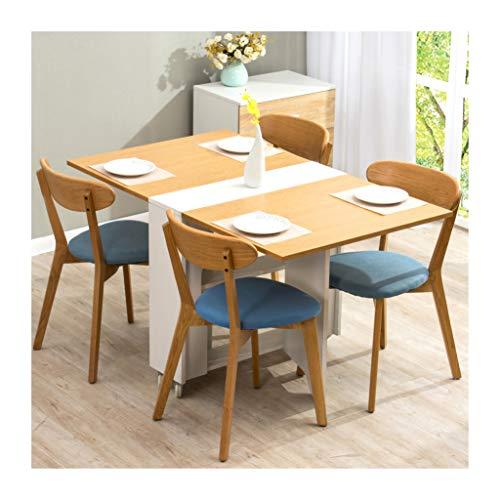 Cherry Tree Furniture Oak & White Colour Folding Expandable 2-4 Seater Dining Table with Gateleg