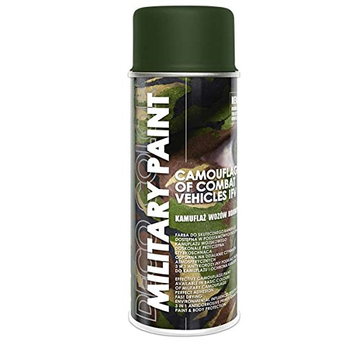 1 Stück 400ml Militär Army Militärlack Lackspray Nato Farbe wählbar (olive-nato RAL 6014)