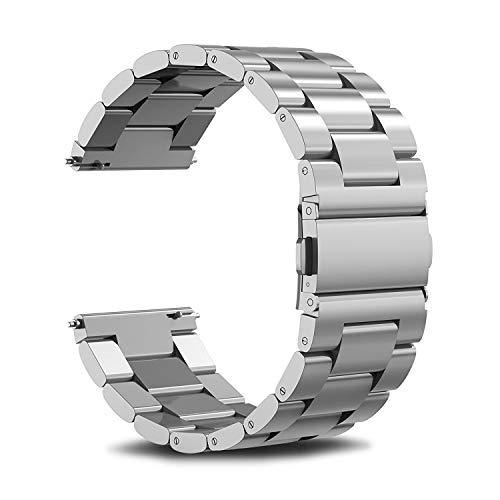 A1-Brave Correa Reloj 18mm 22mm 20mm Universal Venda De Reloj De Acero Inoxidable Correas Correa de Reloj (Band Color : Silver, Band Width : S2 Classic or 20mm)