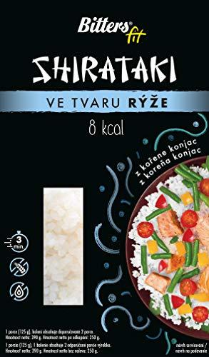 BITTER Shirataki PASTA - riso a forma, 20 x 390 grammi, shirataki konjac, senza glutine, 20 pack