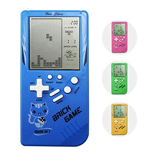 VERLOCO Handheld Spielkonsole Tetris Spielkonsolen für kinder Mini Handheld,Retro Handheld Spielkonsole Handheld-Spiele,Tragbare Mini-Spiel, Handheld-Spielzeug, In 10 Verschiedenen Spielen Gebaut
