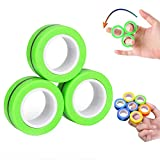 [2020 Upgrade] Finger Magnetic Rings Toys - Magnetic Bracelet Ring Unzip Toy Magical Anxiety Ring Tools, Magnet Toy Finger Fidget Toy - Stress Relief Reducer Spin for Adults Children Kids EDC ADHD