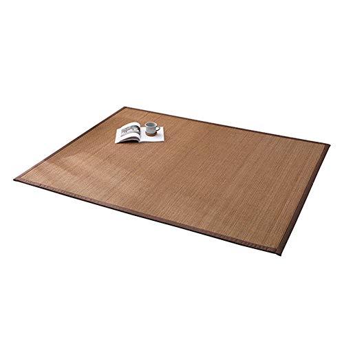 JIAJUAN Japanisch Traditionell Natürlich Bambus Teppich Tee Raum Zen-Raum Fußboden Matte Antistatisch rutschfest Zuhause Bereich Teppiche (Color : B, Size : 50x180cm)
