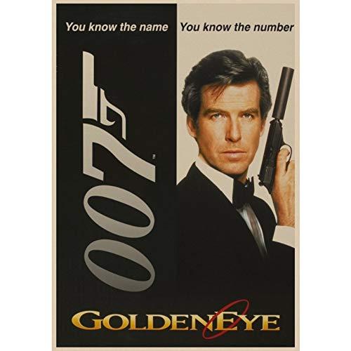 manyaxiaopu James Bond 007 Series Pierce Brosnan Film Classici Arredamento per La Casa Decorazione Carta Kraft Poster Pittura Decorativa A11 50X70Cm