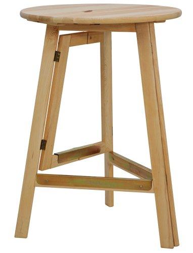 Fun Star 944814 Stehttisch, Gestell und Platte klappbar, komplett aus Kiefernholz, Durchmesser 78 x 111 cm