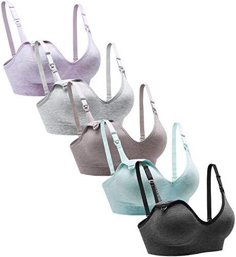 Suekaphin Nursing Bra 5pack Wireless Deep V Neck Maternity Nursing Bra Bralette Sleeping Breastfeeding product image