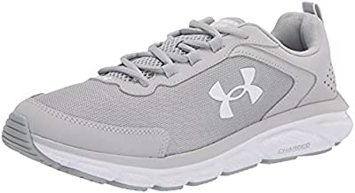 Under Armour Women's Charged Assert 9, Mod Gray (105)/White, 8 M US