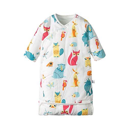 JSIHENA Baby Schlafsäcke Kinder Pucktücher Anti Kick Steppdecke Herbst und Winter Babyschlafsack sechs Lagen Gaze umwickelte Baumwolle,FoxL