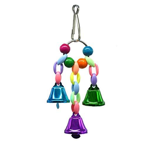 1Pc Uccello Toy Toy Parrot Parrot Toy Bird Cage Accessori arrampicata giocattolo per piccole e medie pappagalli, S Size