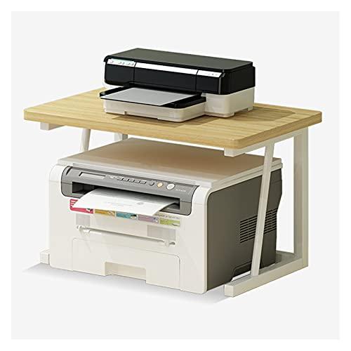 Soporte de Impresora Soporte de escritorio de soporte de impresora, Organizador de soporte de impresora de escritorio, estante multiusos para oficina para máquina de fax, escáner, archivos Rack de Alm