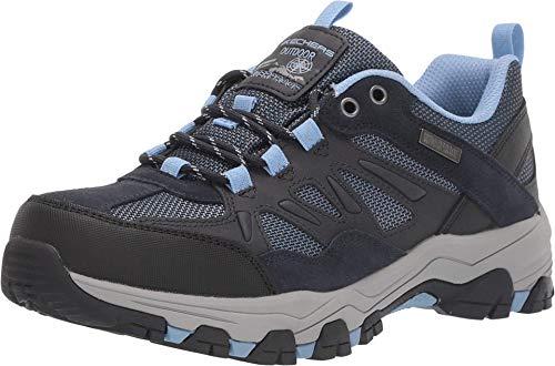 Skechers Trail Senderismo Zapato de senderismo para mujer, Azul (Azul marino/Gris), 38.5 EU