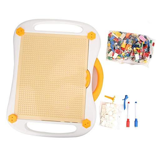 Kinder Bausteine Ziegel Spielzeug lernen und Spiel Multi-Aktivitätstabelle Geeignet für LE-GO(Basic models + letters)