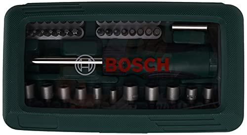 BOSCH 2607019504 - Set de bricolaje: 46 uds atornillar y atornillador, colores surtidos