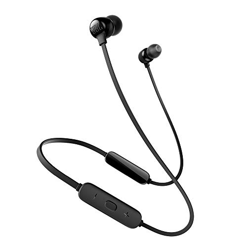 JBL Tune 115BT in-Ear Wireless Headphones with Deep Bass, 8-Hour Battery Life and Quick Charging (Black) (JBLT115BTBLK)