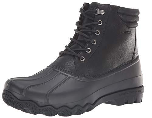 Sperry Men's Avenue Duck Winter Boot, Black, 9 M US