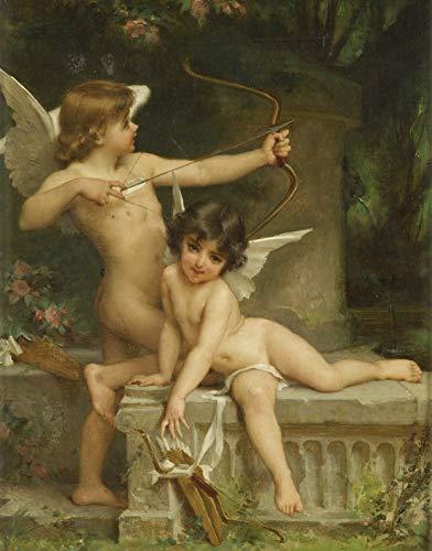 tzxdbh Mooie engel olieverfschilderij wandsticker gedrukt Cupid High Spray hoogwaardige moderne kunst 20x20cm Geen frame.