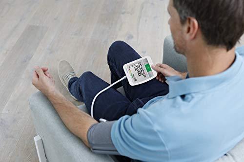 Medisana BU 510 Tensiomètre à bras, affichage de l'arythmie, échelle de couleurs des feux de circulation de l'OMS, une mesure précise de la tension artérielle et du pouls avec fonction de mémoire