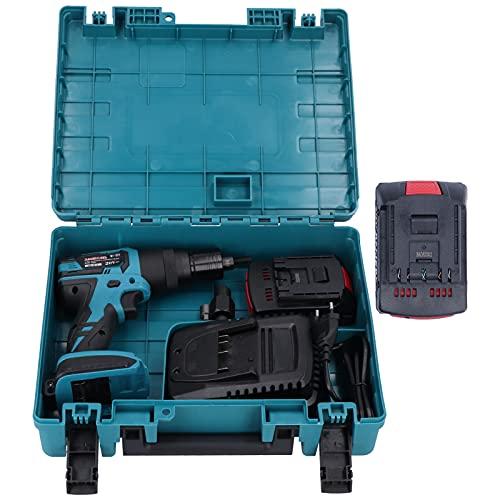 Herramienta de pistola de remaches eléctrica, máquina remachadora recargable sin escobillas automática...