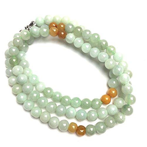 yigedan Groene Geel Natuurlijke Een Jade Jadeite Kralen Ketting Moeder Joods 20 Inch