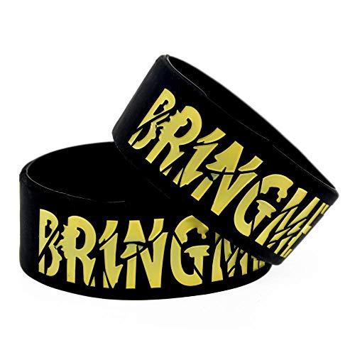 Sxuefang Bracelets en Silicone avec des Bracelets en Caoutchouc « Bring Me The Horizon » Dictons pour Hommes et Enfants Motivation Set de pièces