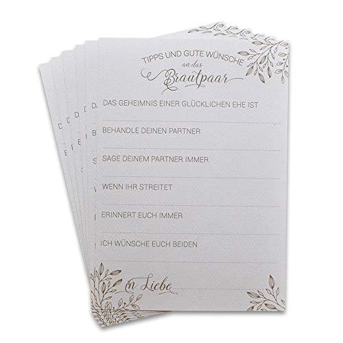 Gästebuchkarten Hochzeit-Spiel Alternative 30 Karten mit Fragen an Hochzeitsgäste zum Ausfüllen &...