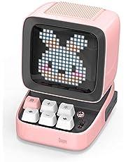 Divoom DitooポータブルBluetoothスピーカー3.55インチLEDスクリーンピクセルディスプレイ、DSPワイヤレススピーカーAPPコントロール、オーディオHD、メカニカルキーボード、ポートマイクロSD、ピンク