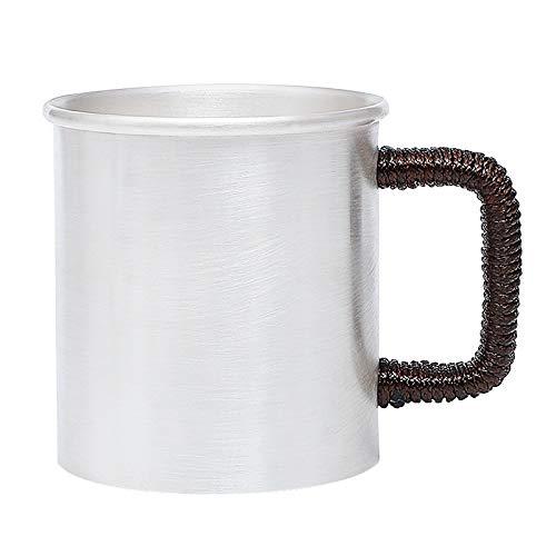 U/D Tetera de Plata Plata de Ley S999 Beber Simple Taza de Plata Hechas a Mano Taza de té Oficina Taza de Agua Neto Copa práctico Rojo Mjzhxm (Color : About 233G350ML, Size : Gratis)