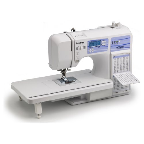 Brother HC1850 Computerized Sewing and Quilting Machine,130 Built-in Stitches, 8 Presser Feet, Sewing Font, Wide Table, 850 Stitches Per Minute, Instructional DVD, 25-Year Limited Warranty