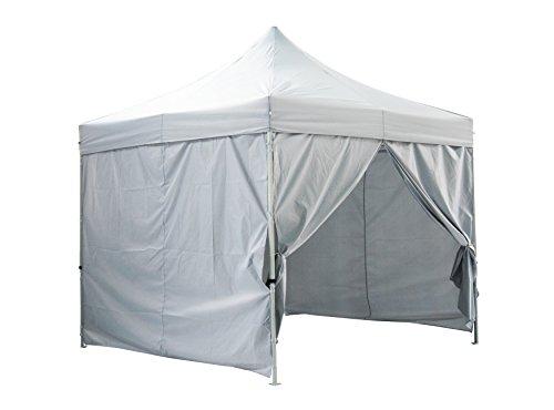 Greaden Tent klaptafel wit met 4 wanden afneembaar 3 x 3 m Premium Light – tube 32 mm uit – barnum inklapbaar – gr-1fam33420ao1