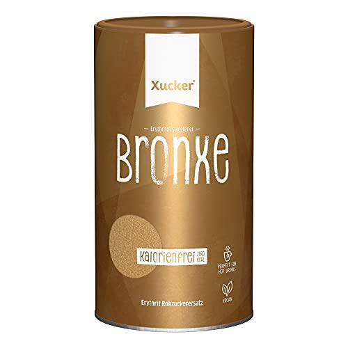 Xucker Bronxe Erythrit 1kg Dose - kalorienfreier brauner Zucker Ersatz als vegane & zahnfreundliche Rohrzucker Alternative I Erythrit ohne Stevia I zuckerfreie Süße