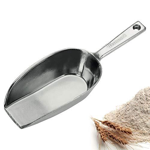 Westmark Abwiege-/Abfüll-/Futter-/Sackschaufel, Füllvolumen: 300 ml (ca. 290 g Mehl), Aluminium, Hygia, Silber, 91512291