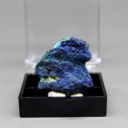 BHP 100% natürlicher Azurit-Mineralprobenkristall Steine und Kristalle Heilkristall Versandkasten # 21,6