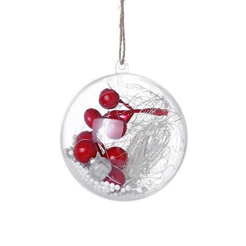 Eternali LED Weihnachtskugeln Acrylkugeln für Tischdeko Fensterdeko Hängende Glaskugel Weihnachtsdeko Weihnachten Deko Christbaumkugeln Transparent als Weihnachtsbaum Deko Hängender Kugel