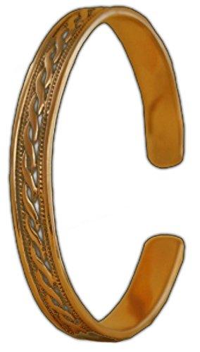 Armreif Celtic Ornamentik aus Bronze Armkette Bronzearmband Gothic Halsband LARP Kette Wikinger