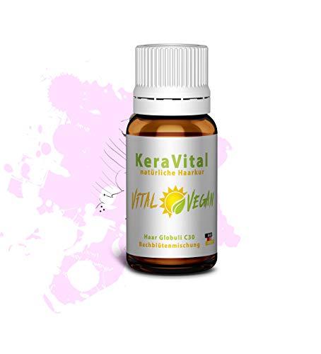 KeraVital Keratin Haarglättung Haarausfall Haar Vitamin - C30 Globuli natürliche Keratin Haarkur Bachblütenmischung für dauerhafte Glättung