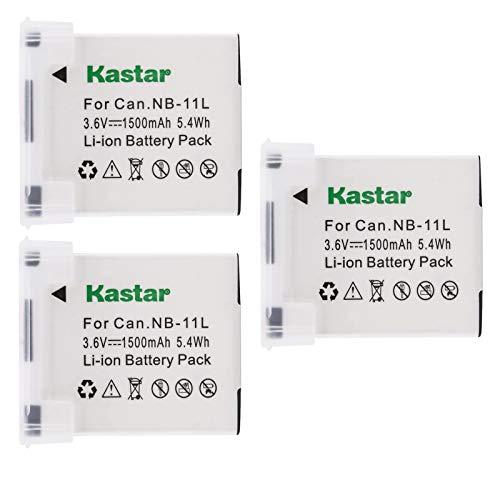 Kastar NB-11L Battery 3X for Canon IXUS 190 IXUS 240 HS IXUS 265 HS IXUS 285 HS and Canon A2300 A2400 is A2500 A2600 A3400 is A3500 is A4000 is A4050 is, SX400 is SX410 is SX420 is