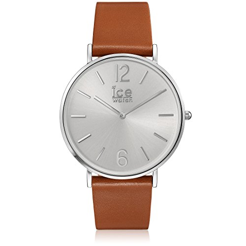 Ice-Watch - CITY tanner Caramel Silver - Men's (Unisex) wristwatch with leather strap - 001521 (Medium)