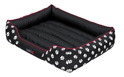 Hobbydog PRELCZ1 Hundebett Hundesofa Hundekorb Tierbett Prestige mit Pfoten, Größe XL, 85 x 65 cm, schwarz