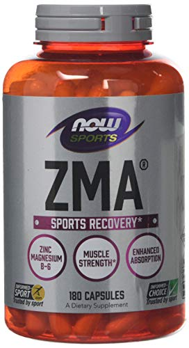 Now ZMA Sports Recovery Supplement 180 Capsules