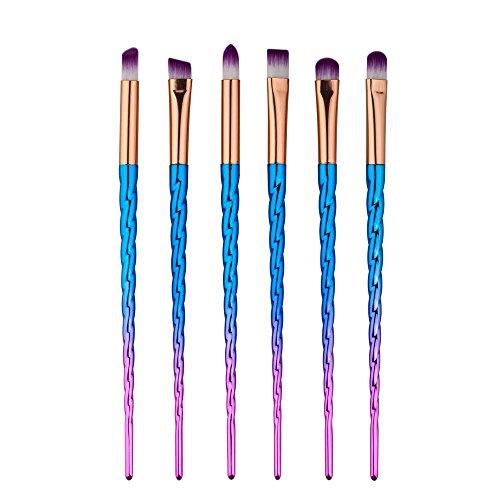 RY@ 6 Pcs / Set Maquillage Pinceaux Pour Foundation Eyebrow Eyeliner Blush cosmétique Correcteur - Multicolor , C