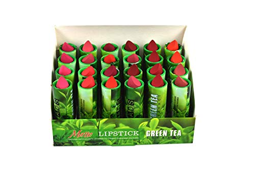 PragatiOnn - ADS Green Tea Extract Multi color Lipstick Set of 24
