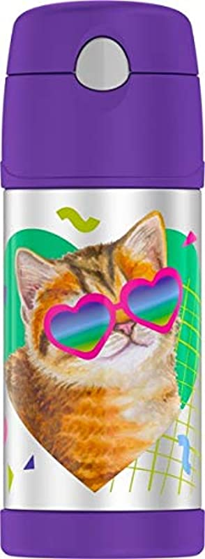 Thermos Funtainer 12 Ounce Bottle Cat With Sunglasses