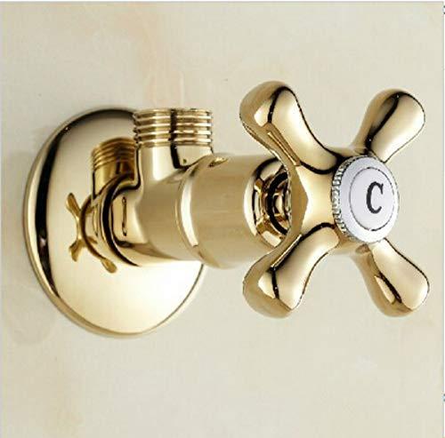 """LLLYZZ 1/2\"""" männlich Messing Badezimmer Eckventil Gold Finish Badezimmer Zubehör verwenden für WC Sanitär"""