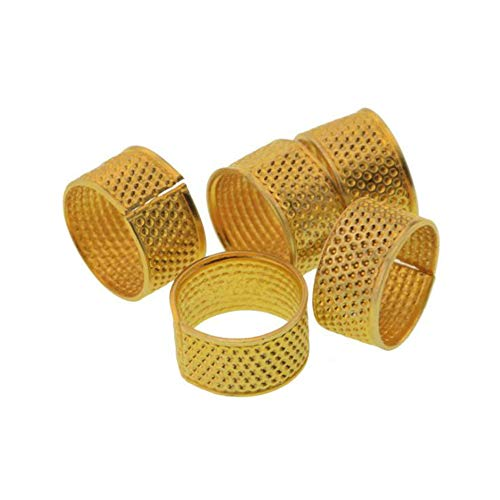 Purchase Mingchen Sewing Hand Thimble Metal Extra Thick Copper Finger Protective Cover, Suitable for Sewing Needles, Hand- Made Embroidery of 50 Piece