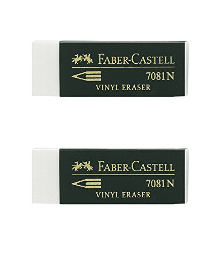 Faber-Castell - Blister 2 gomas de borrar Goldfaber blanco