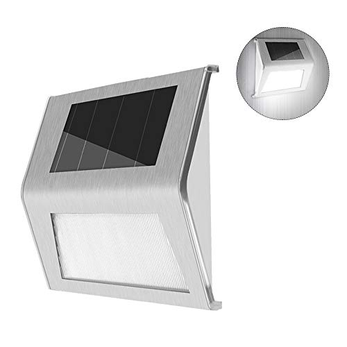 Lixada LED Solar Stair Lights Wandlamp Solar Step Light waterdichte buitenverlichting looppad licht voor dek Path Patio tuin erf auto On/Off